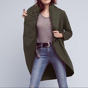Anthropologie Cozy Quilted Coat
